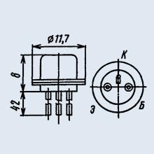 Транзистор ГТ402Ж германиевые сплавные