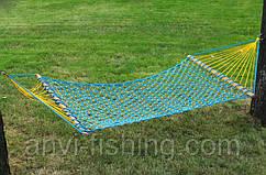 Гамак плетеный усиленный - одноместный - Синий