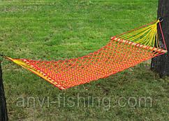 Гамак плетеный усиленный - одноместный - Красный