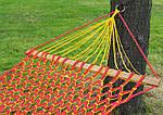 Гамак плетеный усиленный - одноместный - Красный, фото 2