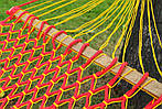 Гамак плетеный усиленный - одноместный - Красный, фото 3