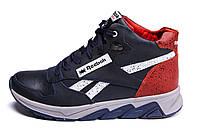 Мужские зимние кожаные кроссовки Reebok NS Red (реплика)