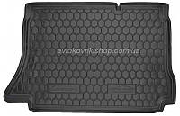 Резиновый коврик багажника Chevrolet Lanos 1997- (хетчбек) Avto-Gumm