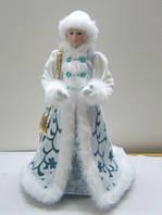 Снегурочка в белой шубе, 58 см, (600090-1)