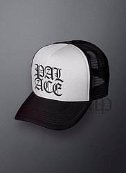 Спортивная кепка Palace, Палас, тракер, летняя кепка, мужская, женская, черного и белого цвета,копия