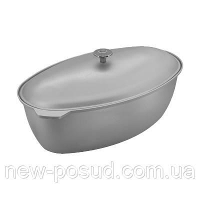 Алюминиевая гусятница с крышкой 9 литров Prolis Г-9
