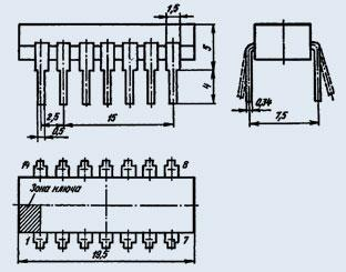 Микросхема К176ИЕ5 двоичный делитель частоты