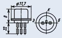 Транзистор 1Т308В диффузионно-сплавные
