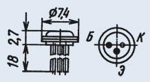 Транзистор 2Т104А малой мощности низкочастотный
