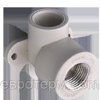 Колено (угол) настенное 20*1/2 для полипропиленовых труб