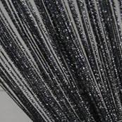 Нитяные шторы с люрексом Черные с серебром