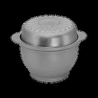 Алюминиевый казан с литыми ручками и крышкой 0,5 литра Prolis ПК-000,5