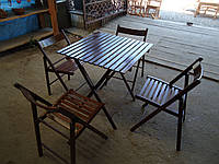 Набор туристической мебели (Стол и стулья 4шт.) для пикника «Шоколад 2»