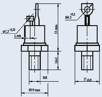 Тиристор Т132-50 низкочастотный