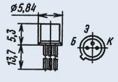 Транзистор 2Т208М низкочастотный