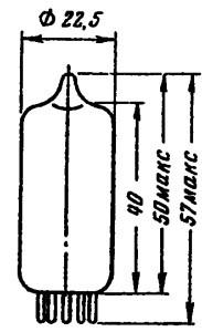 Лампа EC92  (RFT)   триод