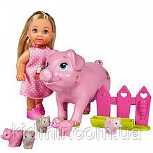 Кукла Еви Набор Беременная свинка с поросятами Evi Simba 5733337