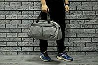 Серая Спортивная сумка найк (Nike), текстиль реплика