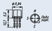 Транзистор КП305Ж диффузионно-планарные полевые