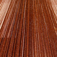 Кисея с люрексом (коричневые с серебром)