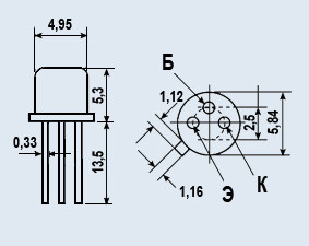 Транзистор КТ3102В эпитаксиально-планарные