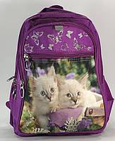 """Рюкзак шкільний для дівчинки 1-4 класи FAVOR """"Котики"""""""