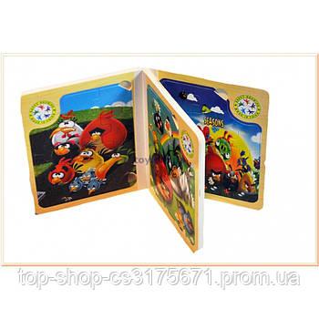 Деревянная книга-пазл Angry Birds 5302