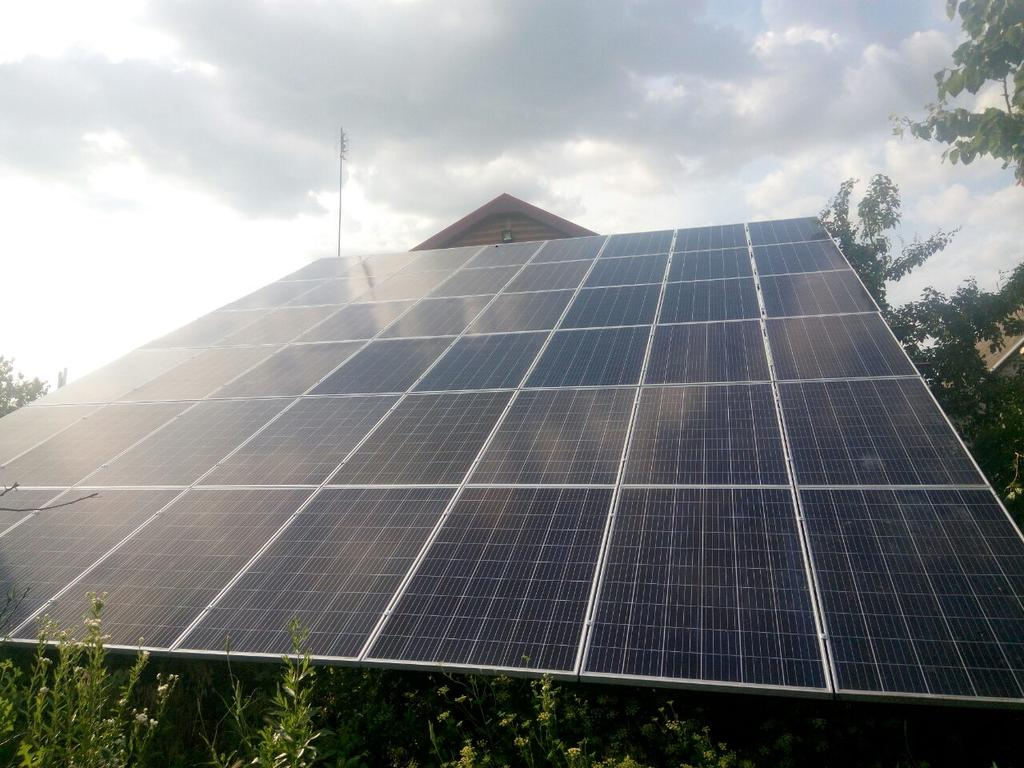 """Каменское солнечная электростанция под """"зеленый"""" тариф мощностью 13,6 кВт Amerisolar + Huawei Днепропетровская область"""