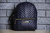 Женский стеганый синий городской рюкзак, фото 1