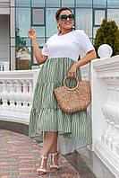 Платье льняное в расцветках  50751, фото 1
