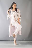 Женский костюм тройка большого размера Likara / софт, костюмная ткань / Украина 32-712