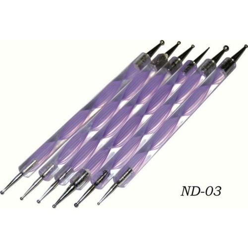 Набор дотсов для дизайна ногтей ND-03 (5 шт)