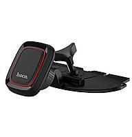 Магнитный автомобильный держатель (холдер, штатив) Hoco CA25 Lotto series magnetic CD Port Black