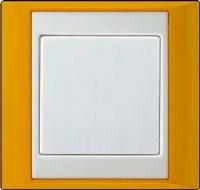 Рамка 1-я желтый-белый Jung A plus