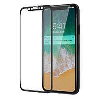 Защитное стекло для iPhone X (айфон 10) 3D/4D Black, фото 1