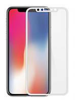 Защитное стекло для iPhone X (айфон 10) 3D/4D Белое, фото 1
