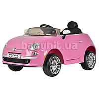 Детский электромобиль Fiat розовый