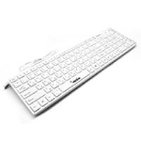 Клавиатура USB Merlion KB-White Star, длина кабеля 125см, (Eng / Укр / Рус), (460х158х33мм) White, multimedia 110к, Q20
