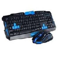 Комплект беспроводной (KB+Mouse) HK-8100 Black, (Eng / Pyc), 2.4G, Box