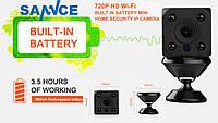Мини Wi-Fi IP-камера SANNCE I21DL. HD 720P. ONVIF 2.4. Охрана. Ночное видение Видео и радионяня. BlueCam.