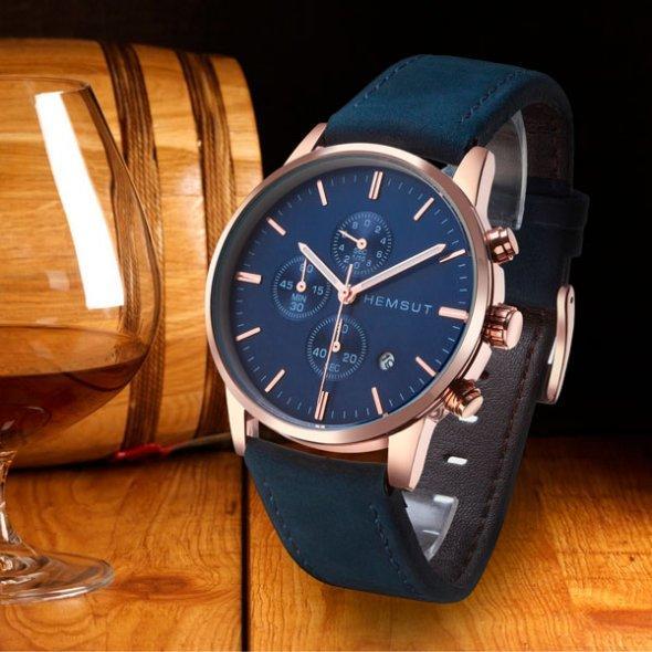 Чоловічі наручні годинники Hemsut BlueMarine