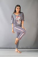 Женский костюм большого размера Likara / софт / Украина 32-825-3