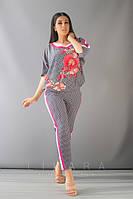 Женский костюм большого размера Likara / софт / Украина 32-825-4