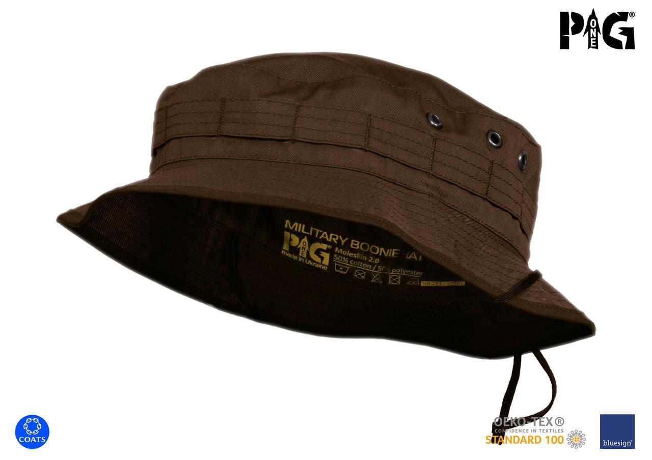 """Панама военная полевая P1G® """"MBH"""" (Military Boonie Hat) - Moleskin 2.0 - Коричневая"""