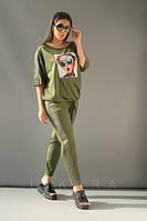 Женский костюм большого размера Likara / стрейч-котон / Украина 32-848-1, фото 1