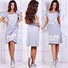 Платье  летнее женское с принтом, трикотажное 42-44р