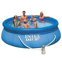 Бассейн Intex Easy Set с надувным верхом 3853л  305х76 см с фильтром