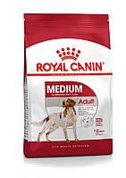 Корм для средних пород от 12 месяцев-  Royal Canin MEDIUM ADULT,4 кг