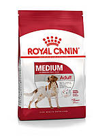 Корм для собак средних пород от 12 месяцев- Royal Canin MEDIUM ADULT,15 кг