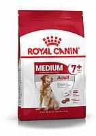 Корм для собак средних пород старше 7 лет-  Royal Canin MEDIUM ADULT 7+, 15 кг